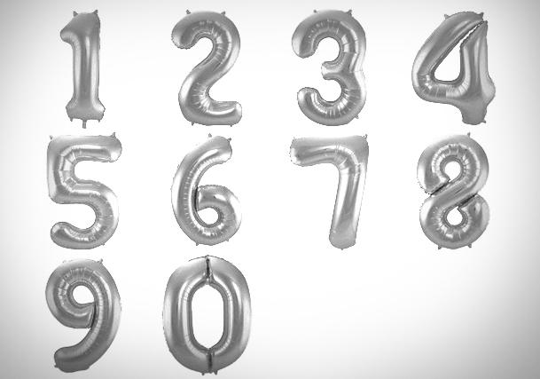 zilver nummer x